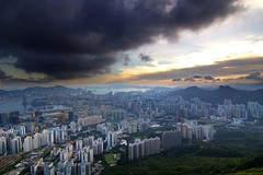 Touch the sky! Touch the clouds! (jimmylau12) Tags: sunset clouds landscape hongkong sony peak tokina  kowloon a77  feingoshan sonyphotographing cloudsstormssunsetssunrises