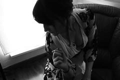 (Accalmia) Tags: light shadow blackandwhite selfportrait dark darkness autoportrait noiretblanc lumière ombre sensuality sensualité