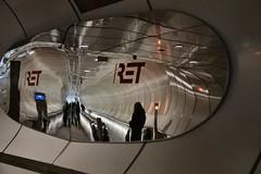 Tunnel onder Wilhelminaplein (Gerard Stolk (vers la Fête du Roi)) Tags: rotterdam kopvanzuid tunnel ret wilhelminaplein
