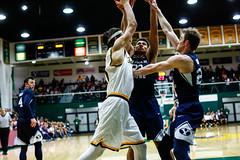 USF Basketball vs BYU 227 (donsathletics) Tags: usf mens basketball vs byu 227 jordan ratinho university san francisco dons