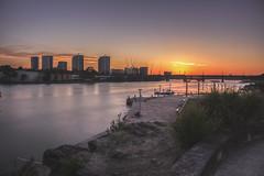 Sunset Light (S♡C) Tags: sunset river riverside parramattariver sydney buildings bridge fishing