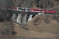 MGB Matterhorn Gotthard Bahn Gepäcktriebwagen Deh 4/4 II Nr. 95 mit Taufname Andermatt ( Triebwagen - Baujahr 1984 - SLM Nr. 5290 - Ehemals FO Furka - Oberalp -  Bahn - Schmalspur Meterspur Zahnradbahn ) ob Lax im Kanton Wallis - Valais der Schweiz (chrchr_75) Tags: hurni christoph chriguhurnibluemailch februar 2017 februar2017 albumbahnenderschweiz201716 albumbahnenderschweiz schweizer bahnen eisenbahn bahn schweiz suisse switzerland svizzera suissa swiss albummgbmatterhorngotthardbahn train treno zug mgb juna zoug trainen tog tren поезд lokomotive паровоз locomotora lok lokomotiv locomotief locomotiva locomotive railway rautatie chemin de fer ferrovia 鉄道 spoorweg железнодорожный centralstation ferroviaria