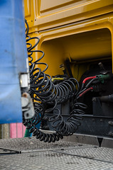 Mechanical Guts (boro.boro) Tags: yellow lorry cables coil coiled woolwichferry lorrytrailerconnections