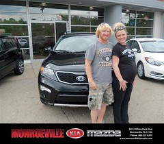 Monroeville Kia Mazda would like to say Congratulations to Lucas Cunkelman on the 2011 Kia Sorento (Monroeville Pennsylvania KIA Mazda) Tags: monroeville kia mazda pittsburgh pa pennsylvania new used preowned vehicles car dealer dealership happy customers sedan coupe suv hatchback wagon truck 2dr 4dr van minivan bday shoutouts