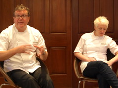 Chef Nigel Haworth at the Fantastic Food Show - Q & A with Lisa Allen (Tony Worrall Foto) Tags: show uk england food cooking fun fantastic year sunday may cook 4th lancashire blackburn event chef celeb cooks 19th foodie lancs returned foodshow 2013 chefswhites haworths nigelhaworthsfantasticfoodshow