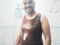 wet (Tshirt lover) Tags: wet shiny enjoy wetlook wetman wetguy flickrandroidapp:filter=none wetlooklover