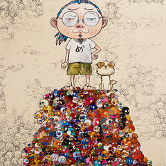 Painting by Takashi Murakami : Pom & Me: On the Red Mound of the Dead, 2013 (Acrylic on canvas mounted on board) / Blum & Poe / Art Basel Hong Kong 2013 / SML.20130523.6D.13924.SQ (See-ming Lee  SML) Tags: china urban hk art dogs cn dead photography hongkong crazy acrylic events fineart paintings photojournalism pop canvas popart creativecommons murakami hkg journalism takashimurakami mortality 6d artbasel canon1740f4l 2013 ccby seeminglee canonef1740f4lusm - blumandpoe canon6d -  blumpoe smlprojects crazyisgood smlfineart smluniverse  canoneos6d smlphotography   smlevents flickrstats:views=5000 flickrstats:galleries=1   abhk sml:projects=crazyisgood fl2fbp sml:projects=photojournalism  sml:projects=smlfineart artbaselhongkong2013