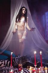 (Zlena Van Lunarem) Tags: woman sexy fog women candles erotic veil witch smoke lingerie sensual velas humo dessous hex niebla velo kerzen pagan pagano bruja hexe sexyness erotism erotico eroticism hechicera lencerie hekz softerotic