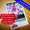 "Meet former Phillies great, Darren Daulton, as he broadcasts his radio show ""Talking Baseball with Dutch"" live tomorrow from Scott Honda, with his co-host, Jon Marks from 97.5 The Fanatic.  As a part of our 29th Anniversary Sale-A-Bration we've invited th"