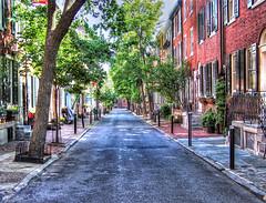 Smedley Street - Philadelphia (elbonius76) Tags: road street alley hdr topaz philadephia smedleystreet photomatix singleexposurehdr