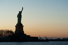 Liberty Dawn (glidergoth) Tags: usa ny newyork liberty sailing harbour yacht manhattan nj statueofliberty ladyliberty