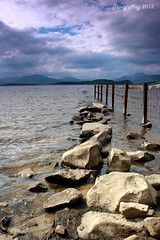 Edge of the Loch (Tracy_May) Tags: cloud sun rocks lochlomond