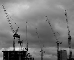 Cranes (Anna Remus) Tags: london crane cranes