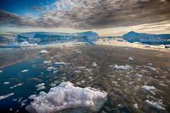Disko-Bucht (swissgoldeneagle) Tags: cloud clouds bay wolke wolken greenland iceberg icebergs bucht eisberg grnland disko ilulissat groenland eisberge d700
