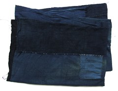 Aizome Boro Textile (FurugiStar) Tags: blue vintage botanical japanese hand natural handmade folk antique indigo domestic fabric cotton blanket denim sheet collectible dye aizome stitched throw collectable peasant boro utilitarian texile loomed furugistar