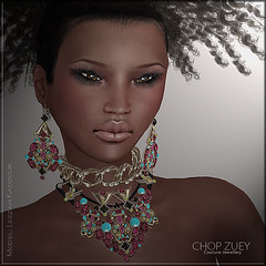 Chop Zuey - Pallas Athena & The 8 Codes of Honour (Leezah Kaddour - MISS SL  South Africa 2015) Tags: modeling models sl secondlife jewels vendors newreleases chopzuey belleroussel