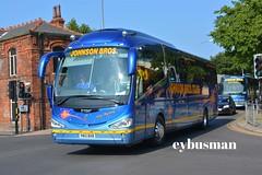 Johnson Hodthorpe YN13BXB. (EYBusman) Tags: road new bus century coach brothers yorkshire johnson pb east independent bros brand nottinghamshire scania bridlington worksop irizar hodthorpe hilderthorpe eybusman yn13bxb