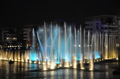 Water Show (BNSXB) Tags: show city light summer france water night canal eau jet strasbourg alsace lumiere nuit ville ete rhone spectacle rhin rivetoile