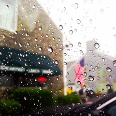 Summer Rain (kim.palmer) Tags: light macro cars window water rain america restaurant connecticut perspective americanflag artsy raindrops carwindow downpour woodbury merica kimpalmer summerlife iphone5 iphonephotography iphoneography itskimpalmer summer2013 uploaded:by=flickrmobile flickriosapp:filter=nofilter