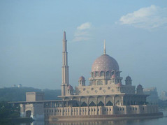 "The ""Red Mosque"" (Romina Cuello Photography) Tags: red mosque malaysia putrajaya putrajayamosque redmosque putrajayalake"