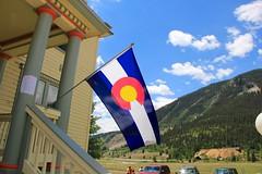 Colorado flag (daveynin) Tags: road mountain mountains colorado symbol silverton flag scenic sanjuan skyway top252013runnerup