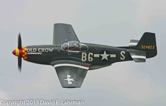 Old Crow on the Chase (David Lahrman) Tags: flying fighter michigan aviation mustang airforce propeller prop warbird p51 northamerican thunderovermichigan 2013