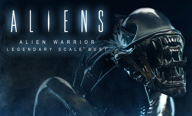 Sideshow 「異形2」異形戰士(Alien Warrior )傳奇系列胸像