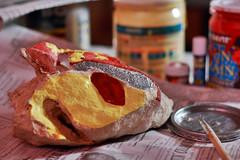 muka ng tambay (tungsuy) Tags: stone paint bum ng tambay mukha