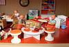 Sabine and Sabrina (*blythe-berlin*) Tags: orange vintage göteborg toys furniture gothenburg 70s möbel byebye spielzeug dollhouse puppenhaus lundby cacodolls biegepuppen doll´shouse 70zigerjahre