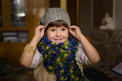 _6004540 (Shkurlei) Tags: old portrait people 6 childhood vertical horizontal kids scarf children reading book funny colorfull style naturallight ukraine clothes indoors single years lowkey windowlight individuals easterneuropean colorimage singlegirl ivanofrankivsk