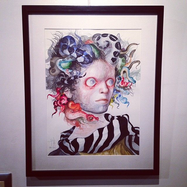 """Medusa"" Jose Luis Carranza • ""Bestiario"" #muestra colectiva #arteenlima #arte #artinlima #art #artistaperuano #artist #artista #peruvianartist"