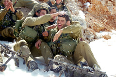 Paratroopers in the First Snow of the Season (Israel Defense Forces) Tags: winter snow mountains training army military soldiers combat idf paratroopers winterfun hermon idfsoldiers vision:outdoor=0805