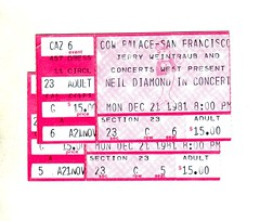 tix (mudsharkalex) Tags: california tickets ticketstubs ticket dalycity tix ticketstub neildiamond dalycityca cowpalace