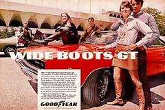 Goodyear Wide Boots ad featuring 68 Charger (Rickster G) Tags: 1969 car ads 1971 flyer 60s muscle convertible super literature 1966 tires bee 1967 70s dodge 1970 1968 hemi mopar 500 sales 1972 brochure 440 1973 rt charger sixpack goodyear tyres dealer 426 383 bbody scatpack
