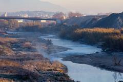 El riu Besòs fumejant (Escursso) Tags: barcelona paris train tren spain ave esp tgv riu mollet besòs molletdelvallès velaro