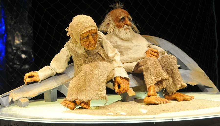 Спектакль о рыбаке и рыбке, творческое объединение Культпроект и Курский театр кукол