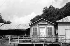 Old Gauley Post Office (RansomedNBlood) Tags: white black film 35mm westvirginia nikonfg gauleybridge