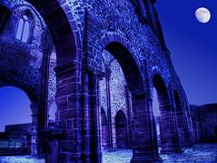 Moonshine Tower (Court) (Totenkirche Treysa) (HDR) (Oliver Deisenroth) Tags: tower church ruin kirche arches ruine turm hdr bögen tonemapping olympusstylus1