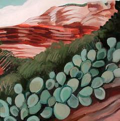 a favorite place (EllenJo) Tags: cactus art painting artwork scenery january nationalforest northernarizona pricklypear 10x10 2014 acryliconcanvas sedonalandscape sedonaart faycanyon ellenjo arizonaart ellenjoroberts ellenjdroberts january2014 forjunipineshow