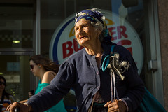 La Bohme by BK (rafa_luque) Tags: madrid life street old city blue people urban color spain candid homeless burgerking age bk bohme