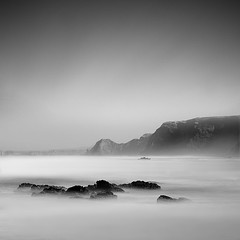 wintermorning... (ibo.h) Tags: longexposure morning sea bw portugal misty rocks algarve atlanticocean bestcapturesaoi elitegalleryaoi costadevincentina