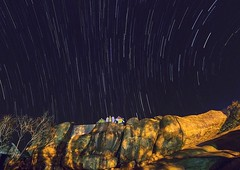 Star Trails (Picsnapr) Tags: trees sky night temple star countryside rocks trails falls starry