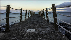 the deserted jetty..... (bevscwelsh) Tags: jetty madeira atlanticocean canico sonye1855 sonynex5n