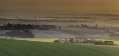 The Sussex Weald (JamboEastbourne) Tags: park mist misty sunrise downs sussex south farmland national berwick alfriston weald
