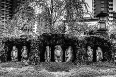 6BR_9726_4_5_tonemapped_PS_CamRaw (Brendan Arthur Ring) Tags: city blackandwhite bw statue japan temple photography japanese traditional statues hdr nakai 2014 ochiai kamiochiai brendanarthurring