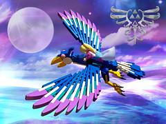 Zelda's Loftwing (Siercon and Coral) Tags: game lego medieval fantasy link zelda skyward moc loftwing skywardsword