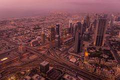 Dubai.. (5AAAAM) Tags: road street city light sunset sun buildings nikon dubai cityscape top 28mm uae cityscapes emirates khalifa arab unitedarabemirates topview burj atthetop d600 middleast nikond600 burjkhalifa topofdubai