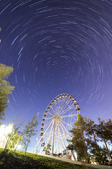 Wheels on wheel (Evgen Ezub) Tags: longexposure nightphotography sky nature wheel night stars landscape photo timelapse nikon view lightleaks astrophotography ferriswheel astronomy nightsky cosmos f4 30sec nightscapes stargazing ural nightcity yekaterinburg d600 observationwheel landscapephotography 14mm samyang iso1100 nikonphotography landscapeastrophotography nikonrussia yezub 75shots yevgenyyezub