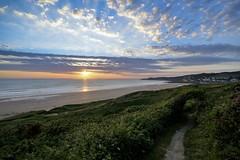 Woolacombe Sunset (RJW1988) Tags: sunset sea summer sky clouds landscape seaside nikon sigma wideangle dslr 1020mm notripod woolacombe nofilter nikond3200 d3200