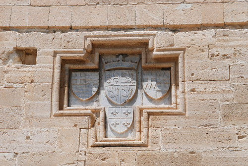 Lusignan escutcheon on the eastern wall